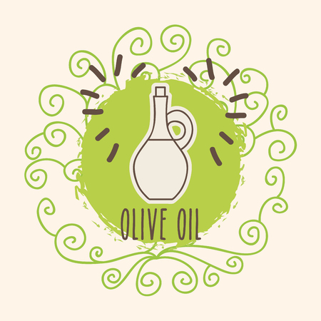 olive oil organic natural food vector illustration
