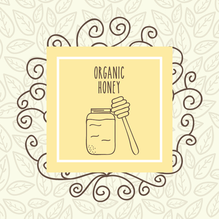 organic honey food health vintage poster vector illustration