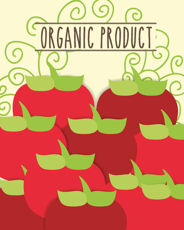 organic product fresh vegetables tomatoes vector illustration