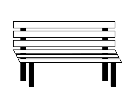 bench wooden exterior decoration image vector illustration  イラスト・ベクター素材
