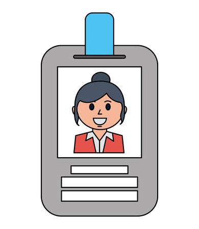 business woman employee id card corporate vector illustration Illustration