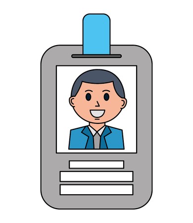 businessman employee id card corporate vector illustration Banque d'images - 112384725