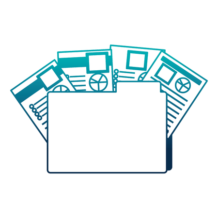 office folder file documents paper reports vector illustration Illustration