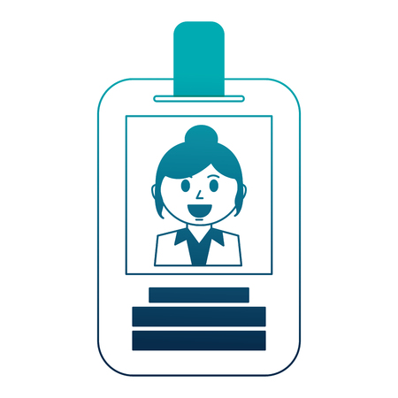 business woman employee id card corporate vector illustration