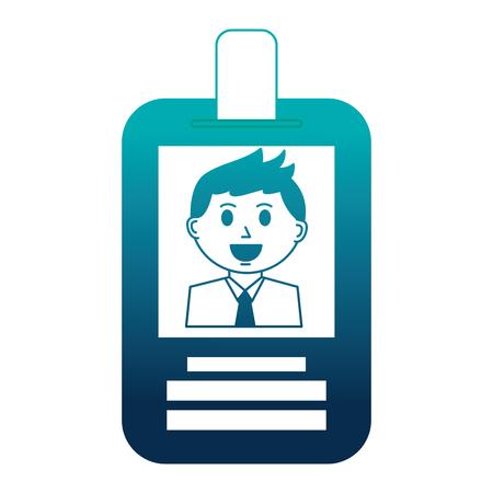 businessman employee id card corporate vector illustration Illustration