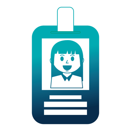 business woman employee id card corporate vector illustration Stock Vector - 112384756