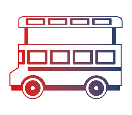 bus transport great britain landmark icon vector illustration design