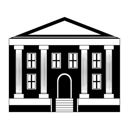 Diseño del ejemplo del vector del icono de la educación del edificio de la escuela Ilustración de vector