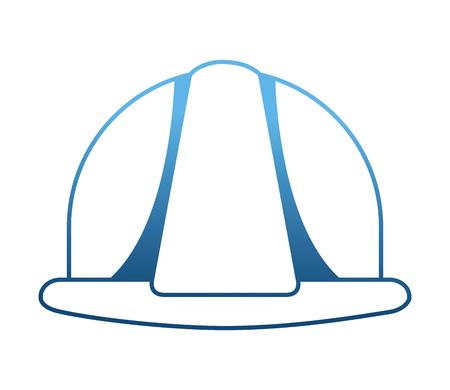 Construction casque icône isolé vector illustration design Vecteurs
