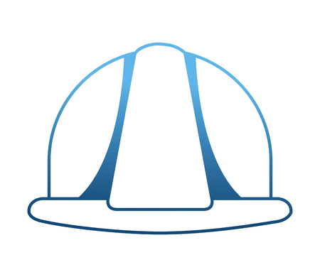 helmet construction isolated icon vector illustration design  イラスト・ベクター素材