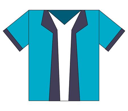 blue shirt accessory fashion icon vector illustration Illustration