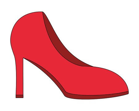 red high heeled shoe accessory vector illustration