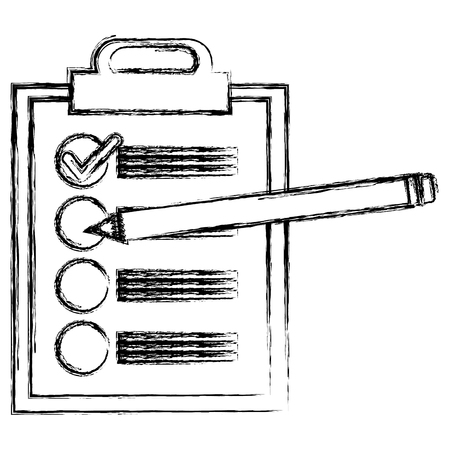 clipboard checklist with pencil vector illustration design