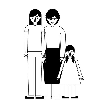 grandmother with daughter and granddaughter vector illustration design 일러스트