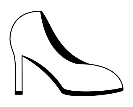 high heel shoes female isolated icon vector illustration design Stockfoto - 105647245