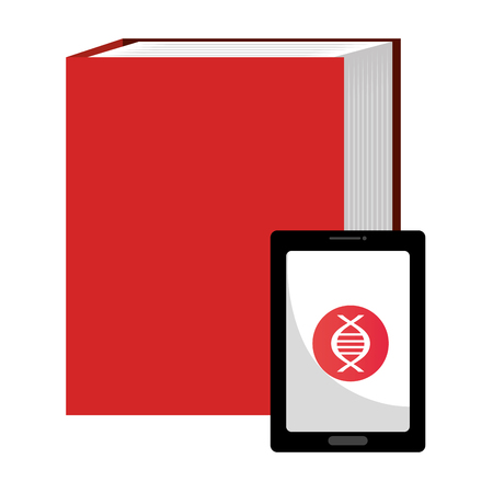 tablet device with ebooks vector illustration design