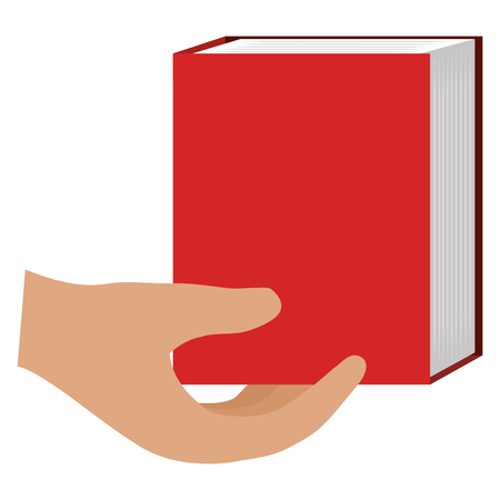hands with text book school vector illustration design