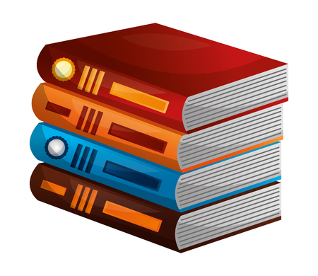 library pile books icon vector illustration design