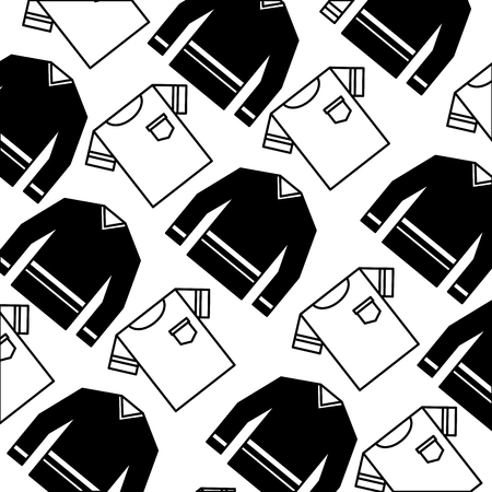 clothes tshirt and sweater fashion background vector illustration monochrome