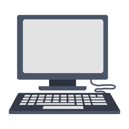 Ordinateur de bureau icône isolé vector illustration design