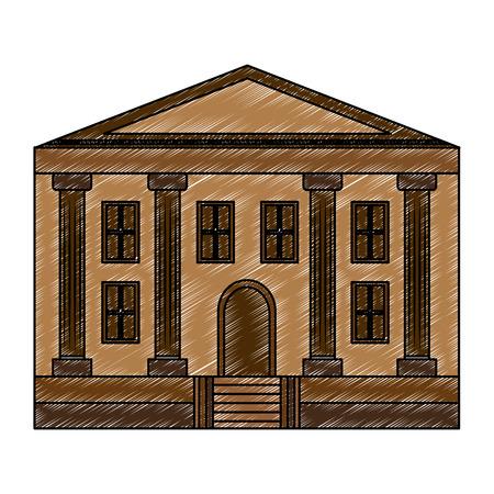school building facade architecture education vector illustration Illustration