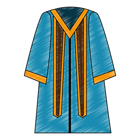 traditional graduation robe dress elegance vector illustration