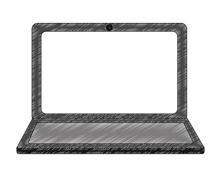 laptop computer device gadget digital vector illustration