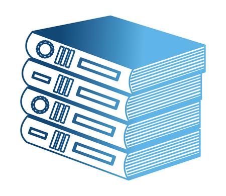 library pile books icon vector illustration design