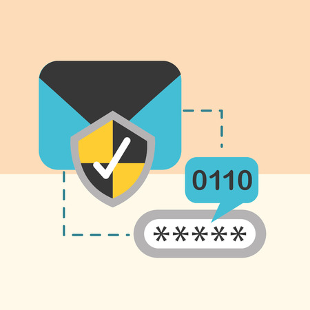 email check mark secuirty password vector illustration 向量圖像