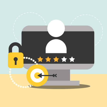 computer people security access password marketing vector illustration Stok Fotoğraf - 112388141