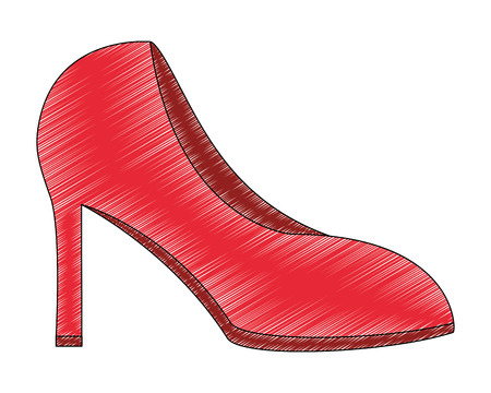 high heel shoes female isolated icon vector illustration design