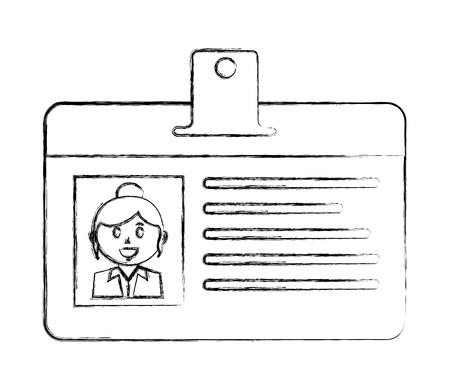 badge ID document isolated icon vector illustration design