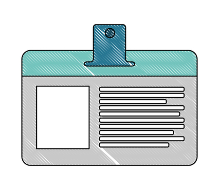 badge ID document isolated icon vector illustration design