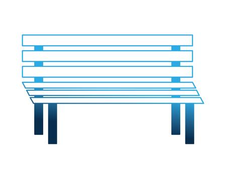 bench wooden exterior decoration image vector illustration Illusztráció