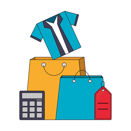 buy online clothes calculator tag price vector illustration Illustration