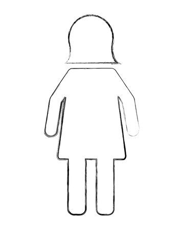 female gender silhouette isolated icon vector illustration design