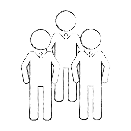 men group silhouette isolated icon vector illustration design Archivio Fotografico - 105647328