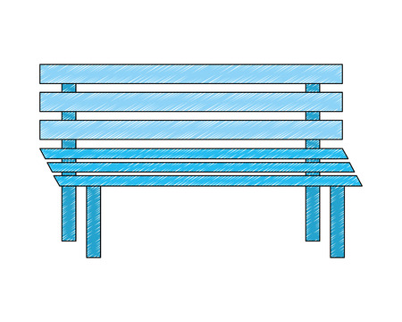 bench wooden exterior decoration image vector illustration Illustration