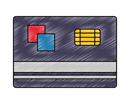 bank credit card commerce business vector illustration drawing Illustration