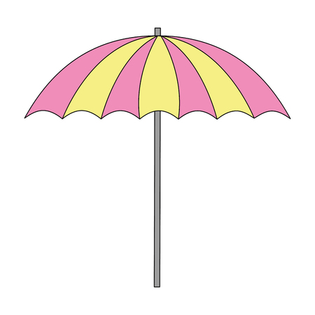 beach umbrella isolated icon vector illustration design