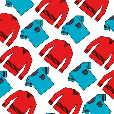 clothes tshirt and sweater fashion background vector illustration