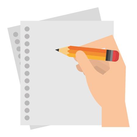 hand schrijven in notebook blad vector illustratie ontwerp