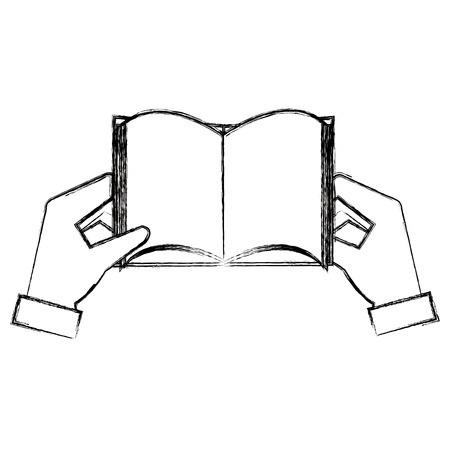 hands with text book vector illustration design 向量圖像
