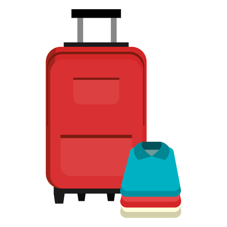 suitcase travel with clothes vector illustration design Reklamní fotografie - 112388621