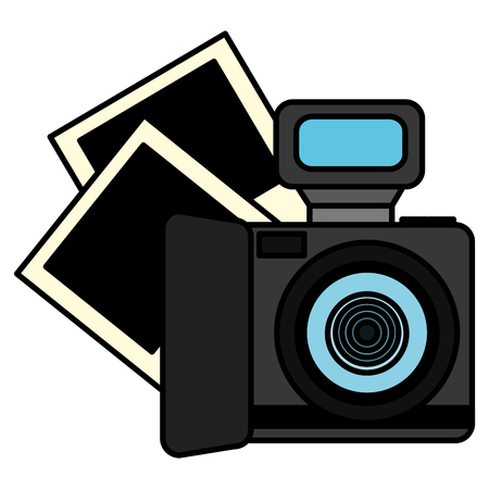 camera photographic with pictures vector illustration design Illusztráció