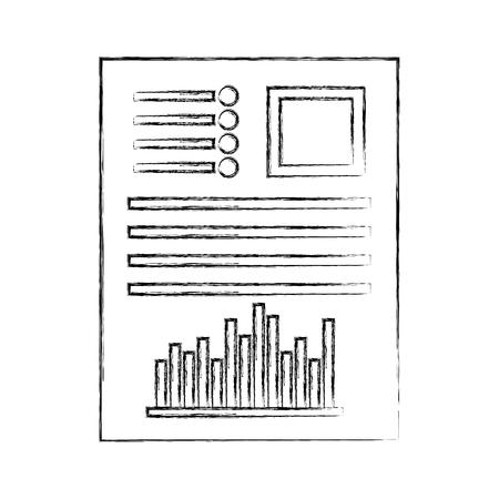 Dokumentdatei mit Grafikbalken Grafikvektor Illustration Design Vektorgrafik