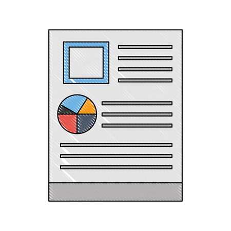 document file with statistics pie graphic icon vector illustration design