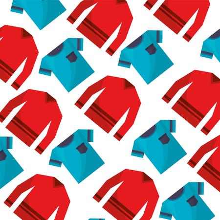 clothes tshirt and sweater fashion background vector illustration Archivio Fotografico - 112388839