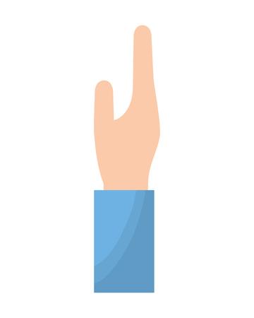 human hand gesture cartoon icon vector illustration