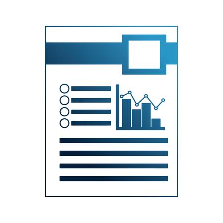 illustrazione di vettore del grafico delle statistiche della barra del documento di scartoffie